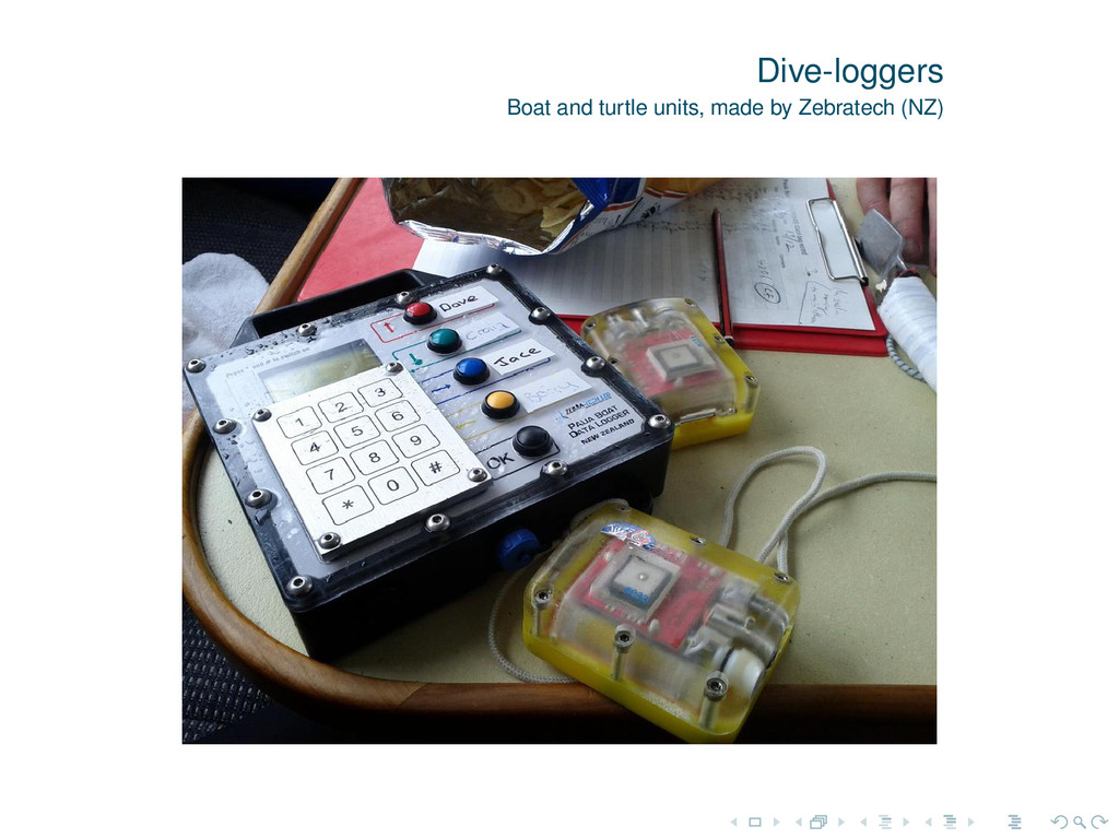 Dive-loggers Boat and turtle units, made by Zeb...