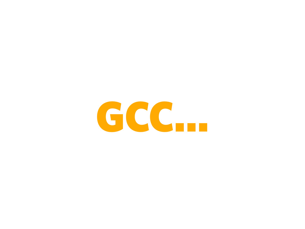 GCC...