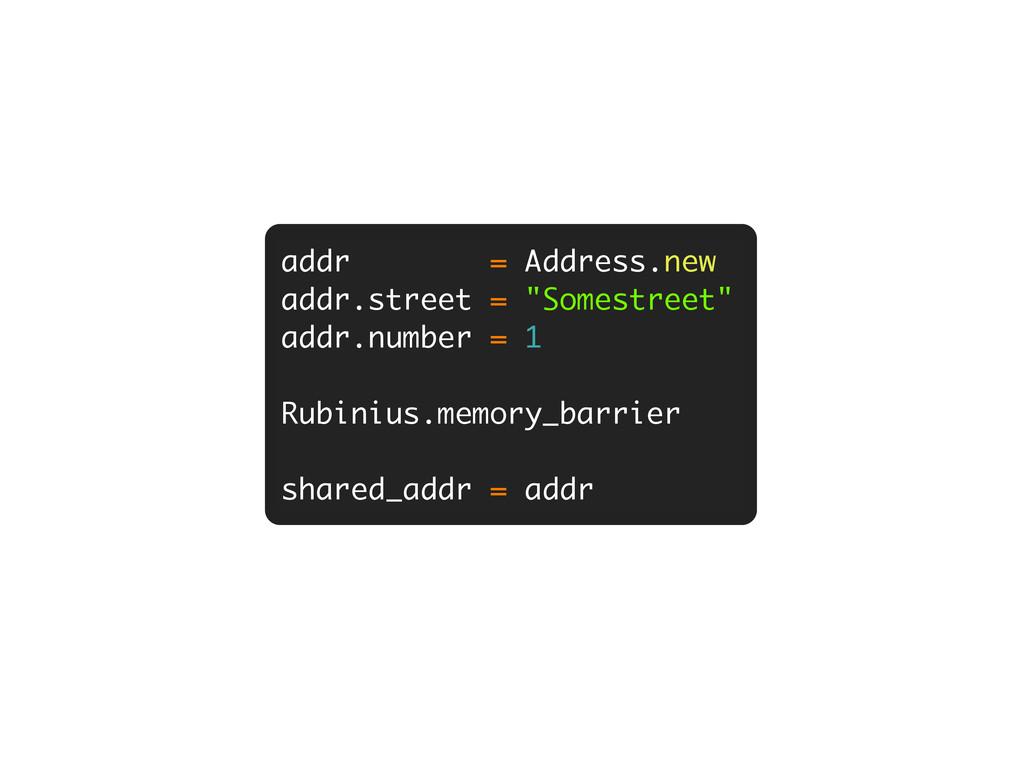 "addr = Address.new addr.street = ""Somestreet"" a..."