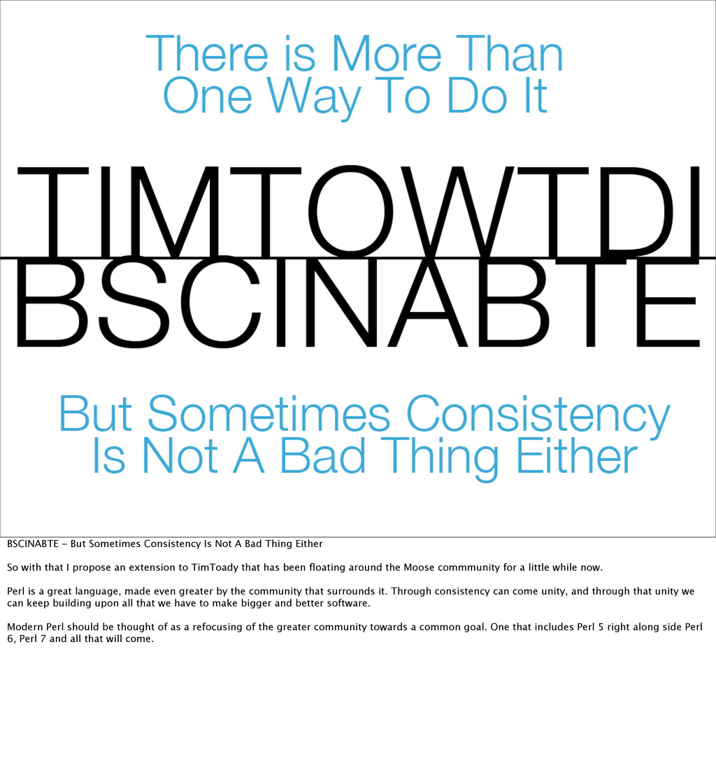 BSCINABTE - But Sometimes Consistency Is Not A ...