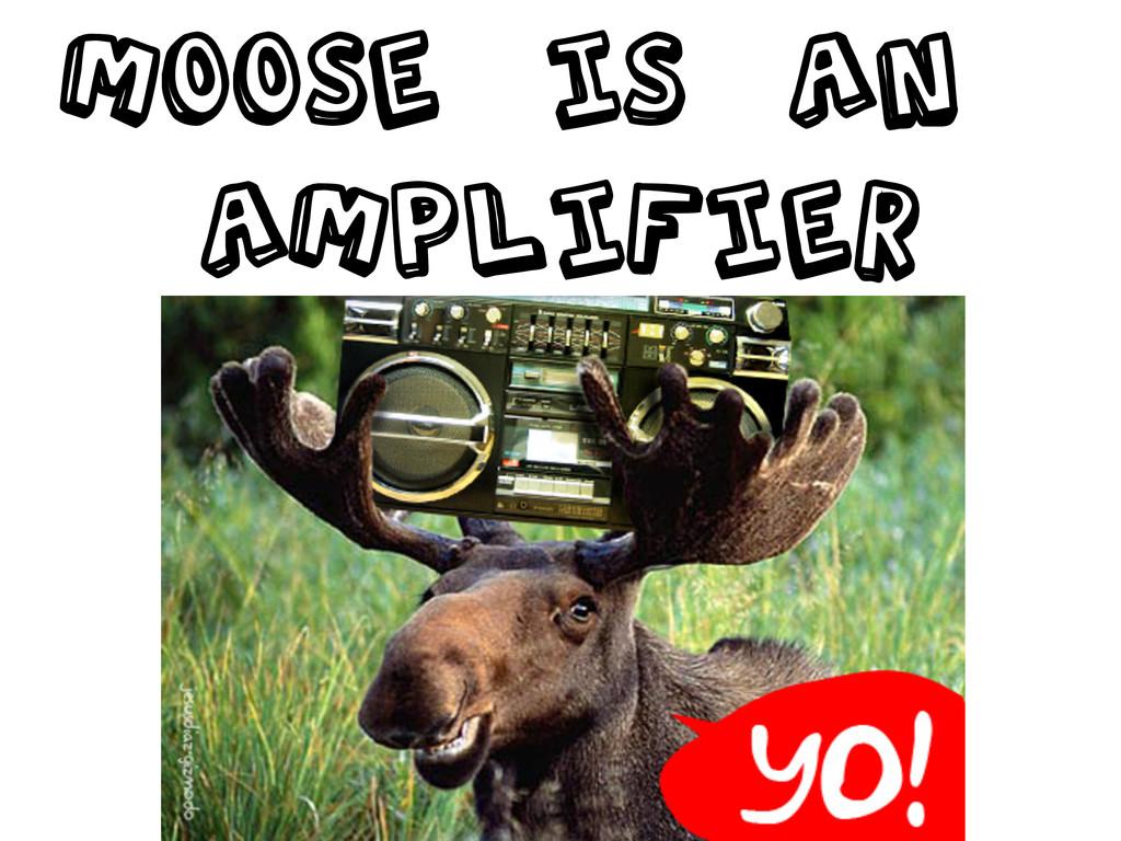 MOOSE is an Amplifier