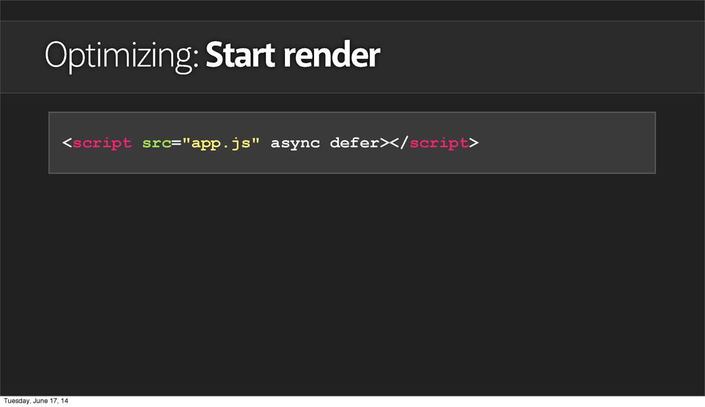 "Optimizing: Start render <script src=""app.js"" a..."