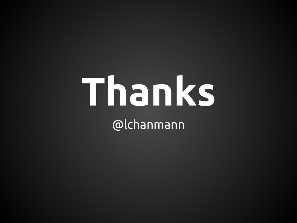 Thanks @lchanmann