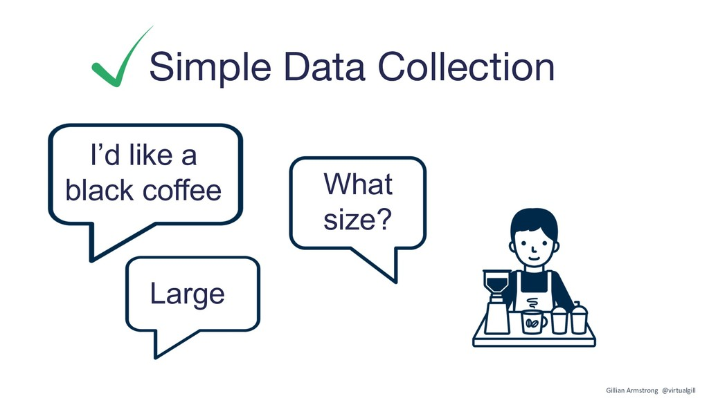 Simple Data Collection I'd like a black coffee ...
