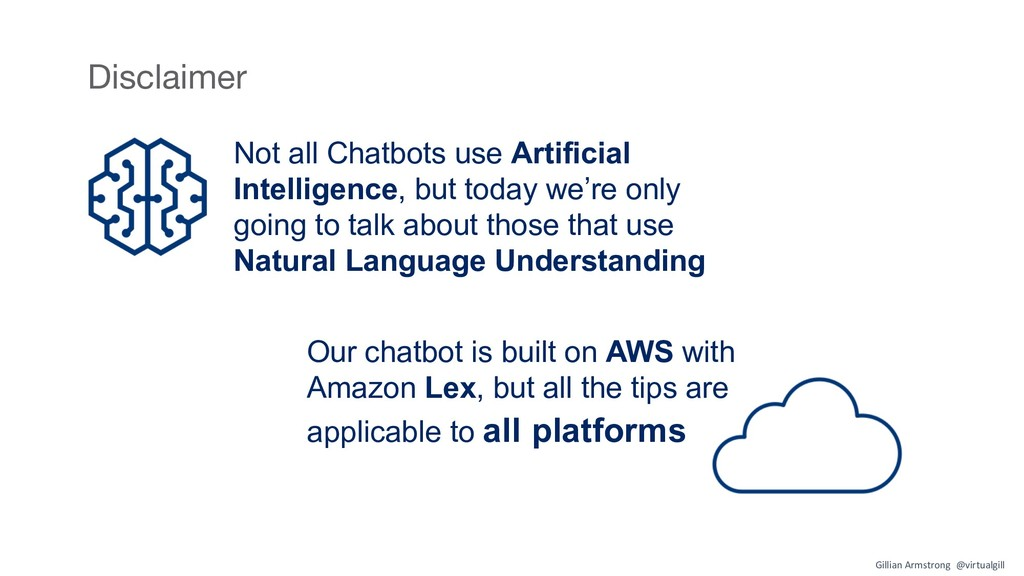 Our chatbot is built on AWS with Amazon Lex, bu...