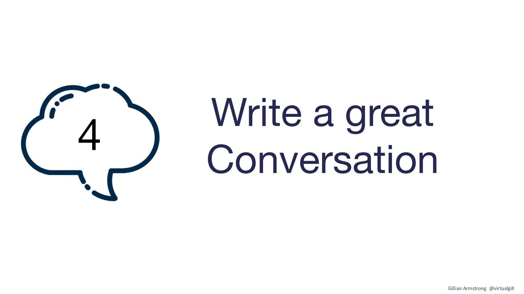Write a great Conversation 4 Gillian Armstrong ...