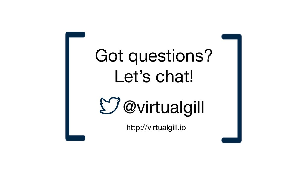 Got questions? Let's chat! @virtualgill http://...