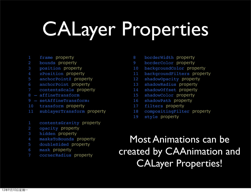 CALayer Properties 1 frame property 2 bounds pr...