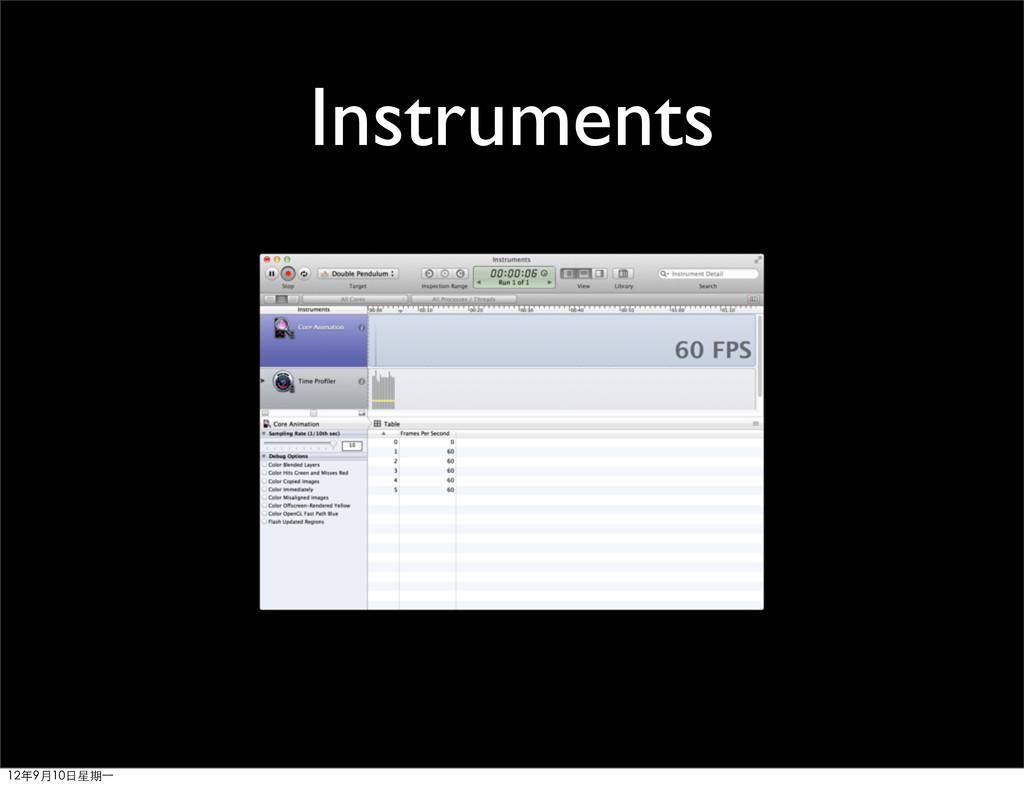Instruments 12年9月10日星期⼀一
