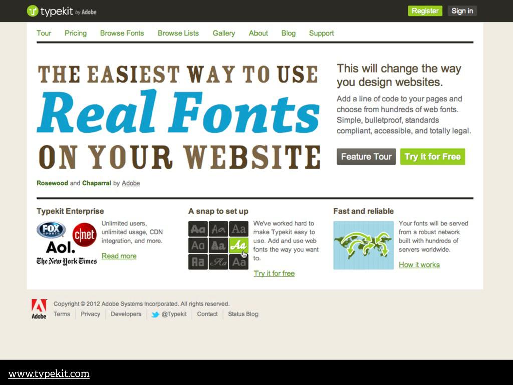 www.typekit.com