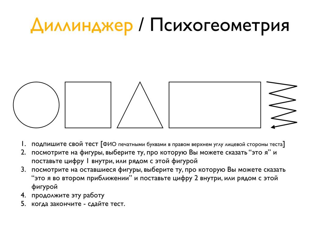 Диллинджер / Психогеометрия 1. подпишите свой т...