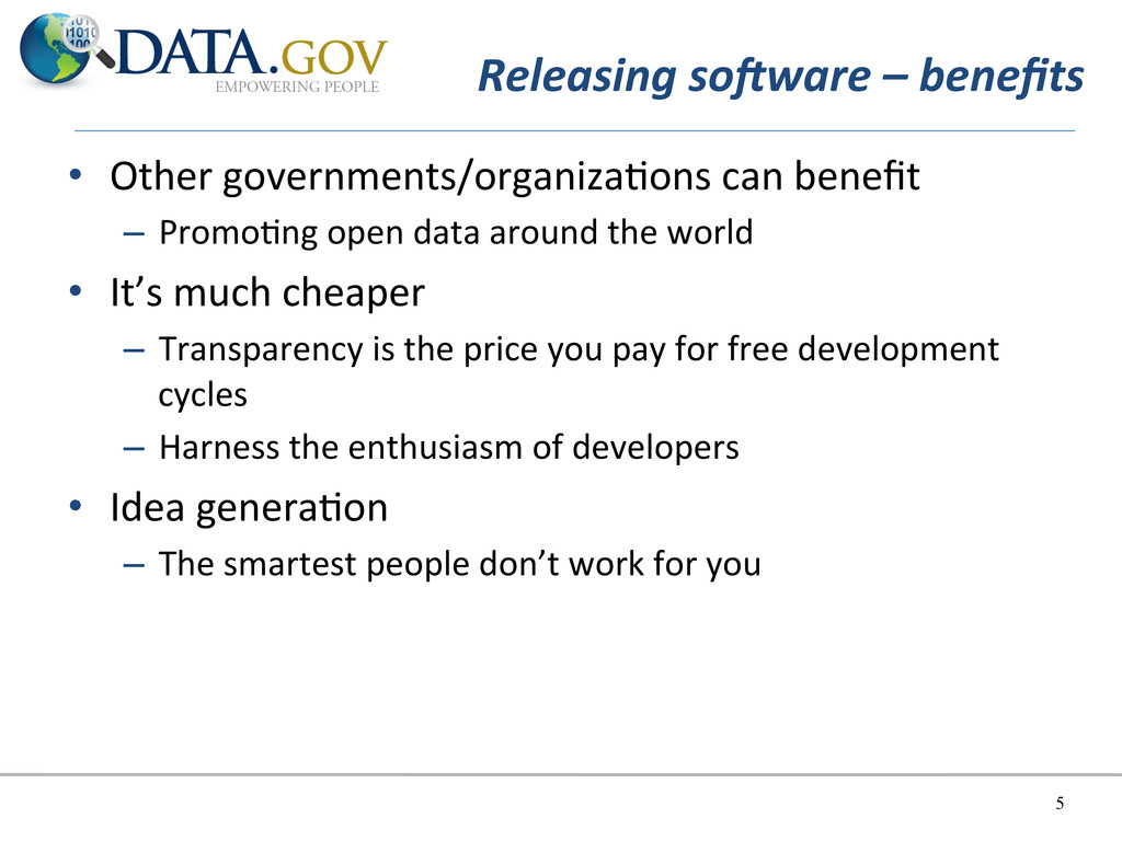 Releasing soAware – benefits   • Ot...