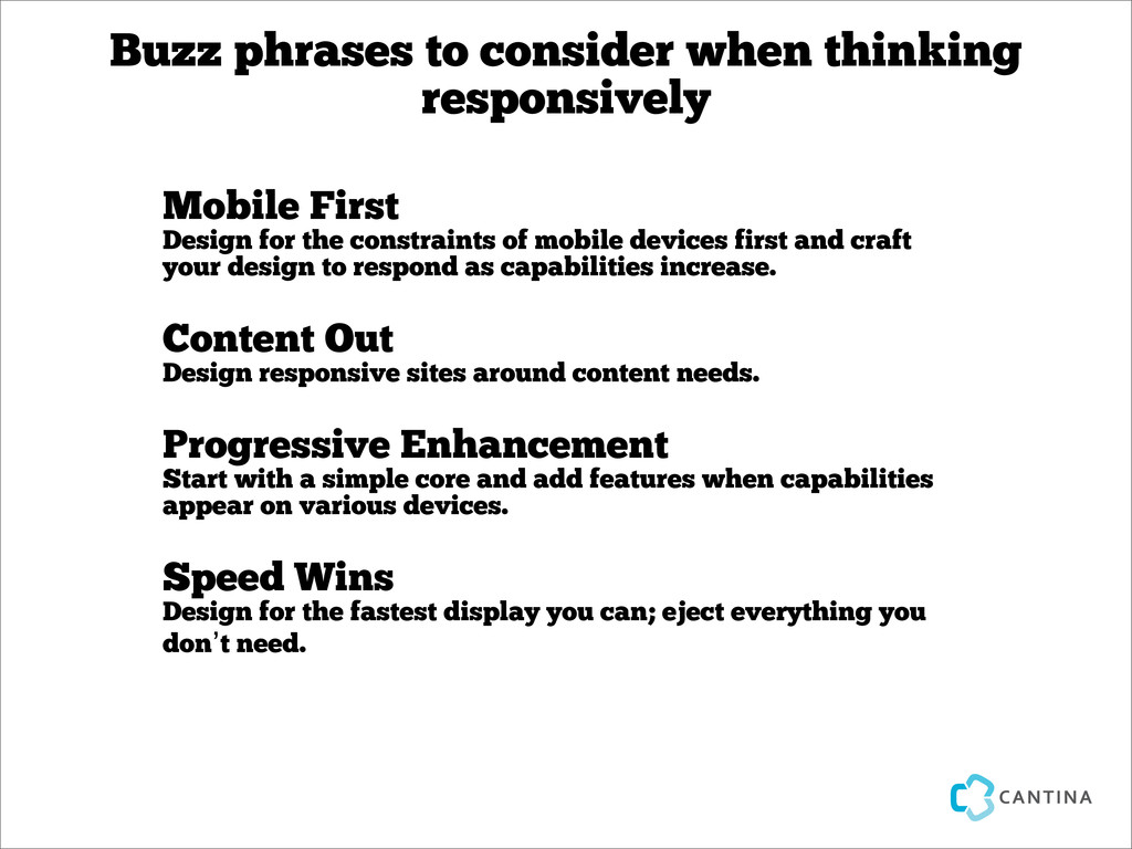 Buzz phrases to consider when thinking responsi...