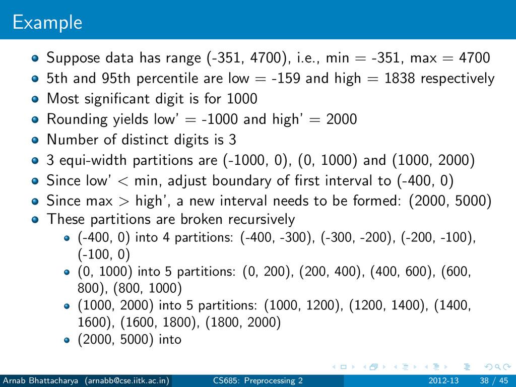 Example Suppose data has range (-351, 4700), i....