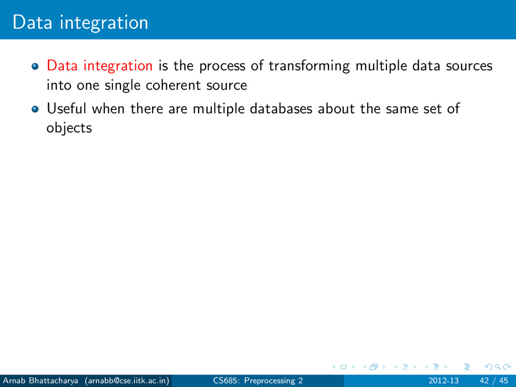 Data integration Data integration is the proces...