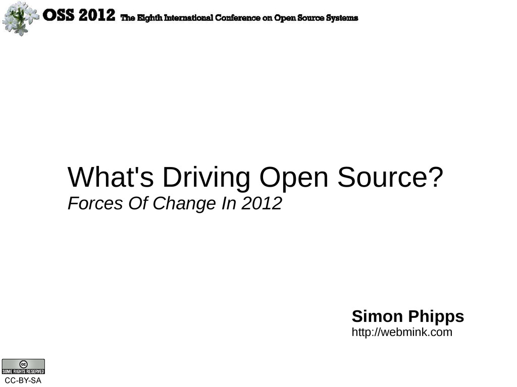 What's Driving Open Source? Forces Of Change In...