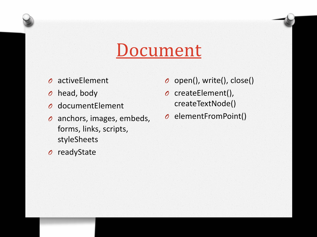 Document O activeElement O head, body O documen...