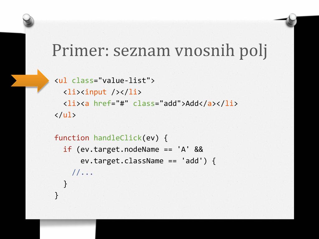 """Primer: seznam vnosnih polj <ul class=""""value-li..."""