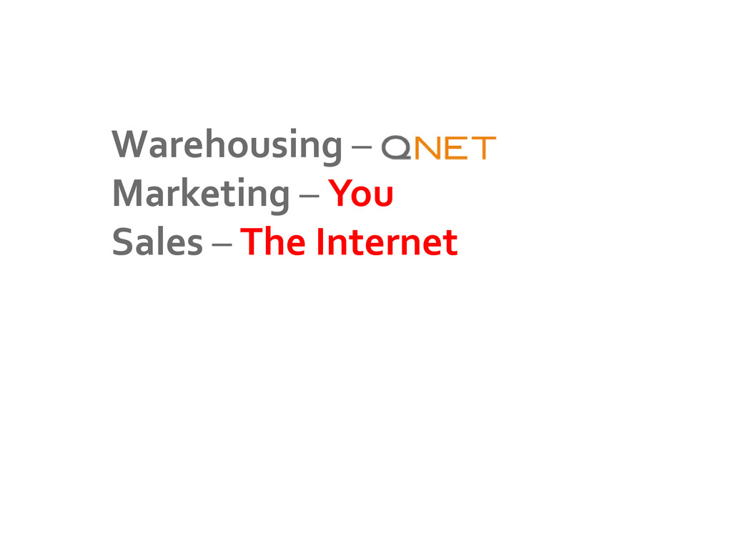Warehousing – Marketing – You Sales – The Inter...