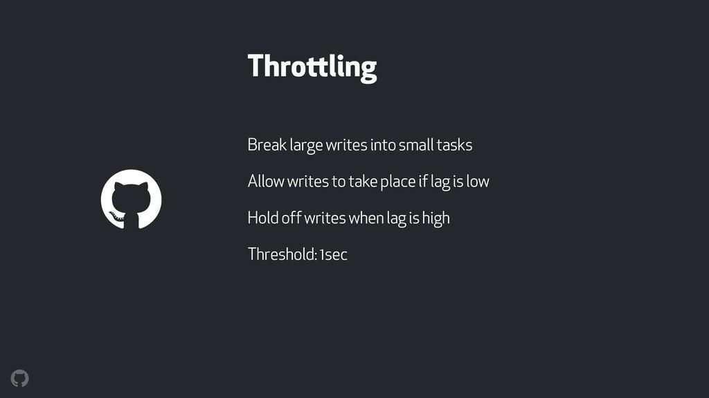 Throttling Break large writes into small tasks ...
