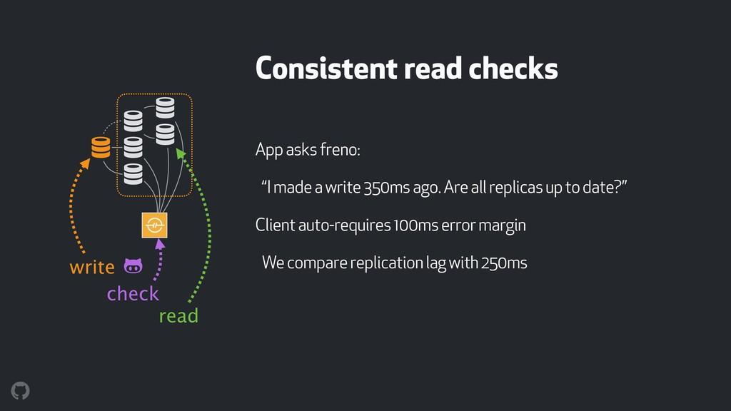 Consistent read checks ! ! ! ! ! ! App asks fre...