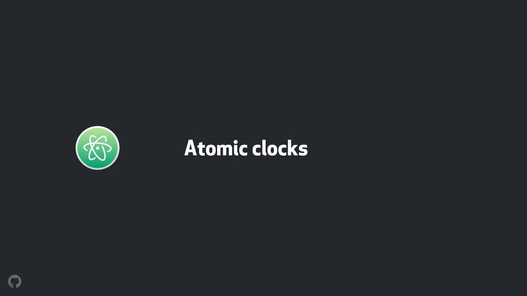 Atomic clocks