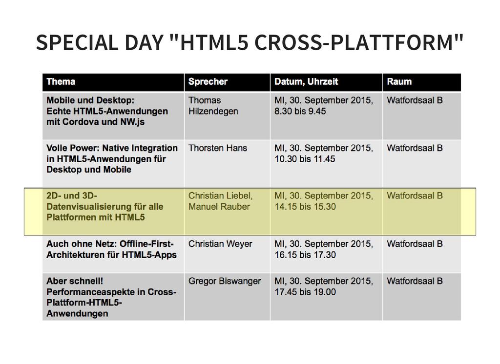 """SPECIAL DAY """"HTML5 CROSS-PLATTFORM"""""""
