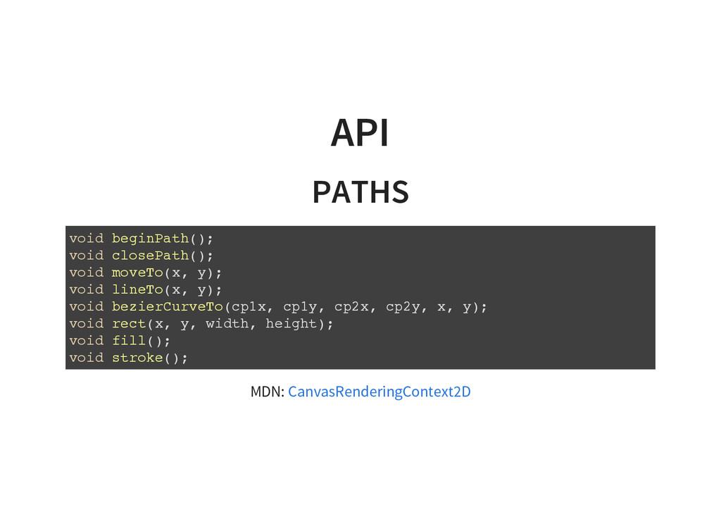 API PATHS v o i d b e g i n P a t h ( ) ; v o i...