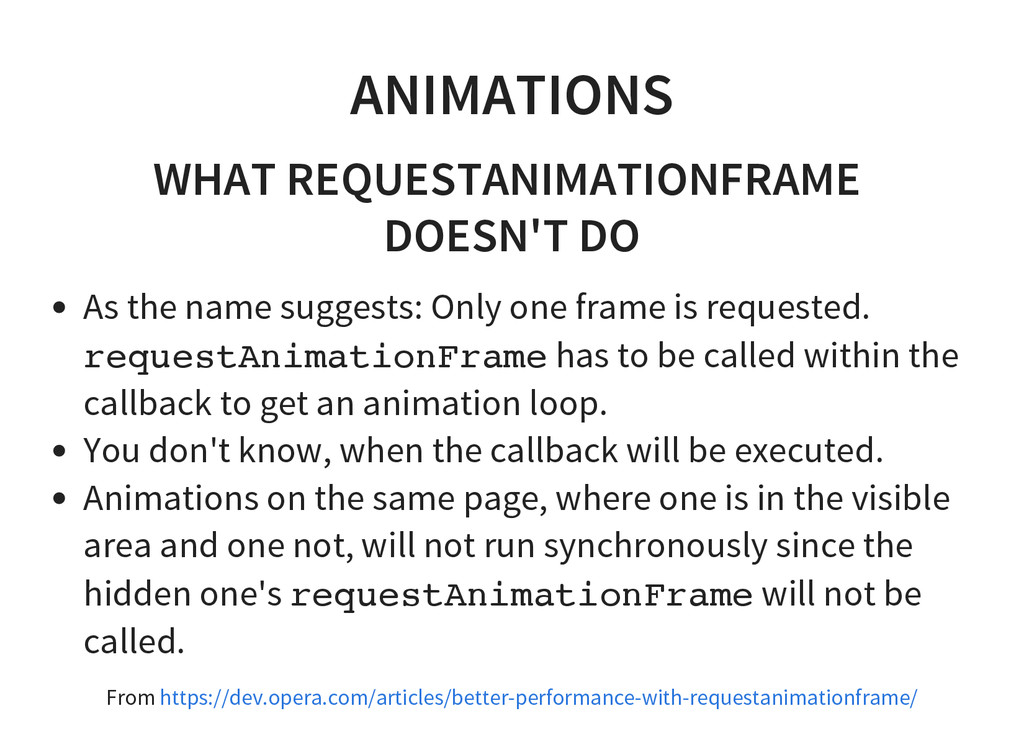 ANIMATIONS WHAT REQUESTANIMATIONFRAME DOESN'T D...