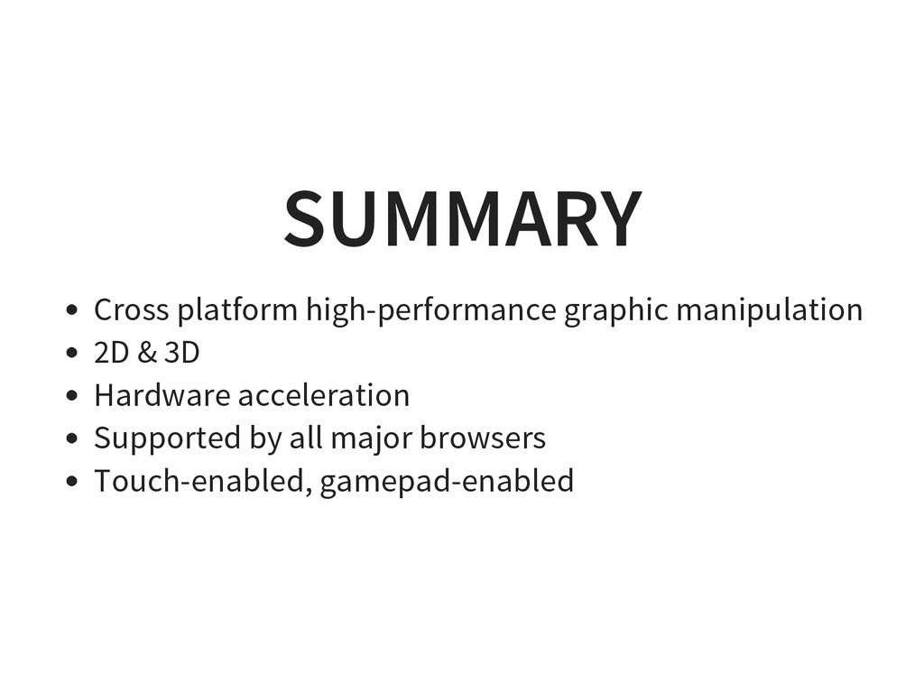 SUMMARY Cross platform high-performance graphic...