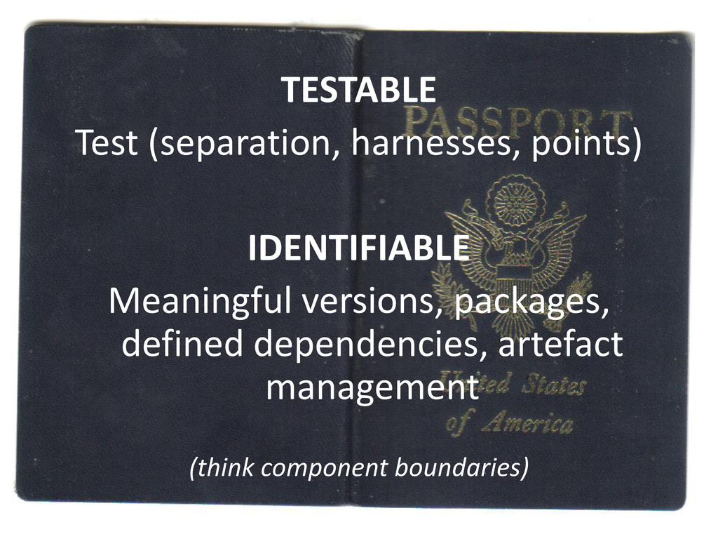 TESTABLE Test (separation, harnesses, points) I...