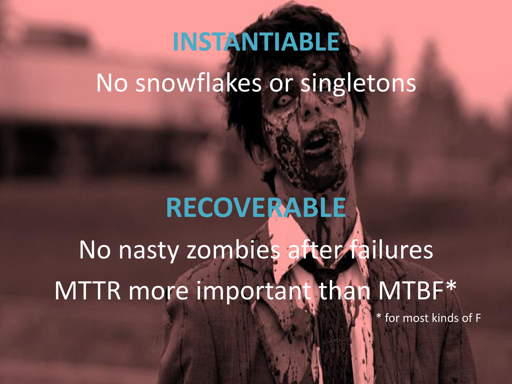 INSTANTIABLE No snowflakes or singletons RECOVE...