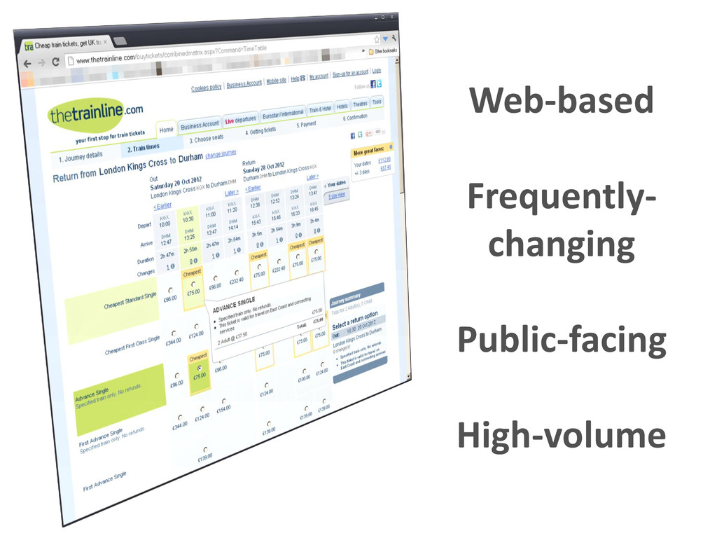 Web-based Frequently- changing Public-facing Hi...