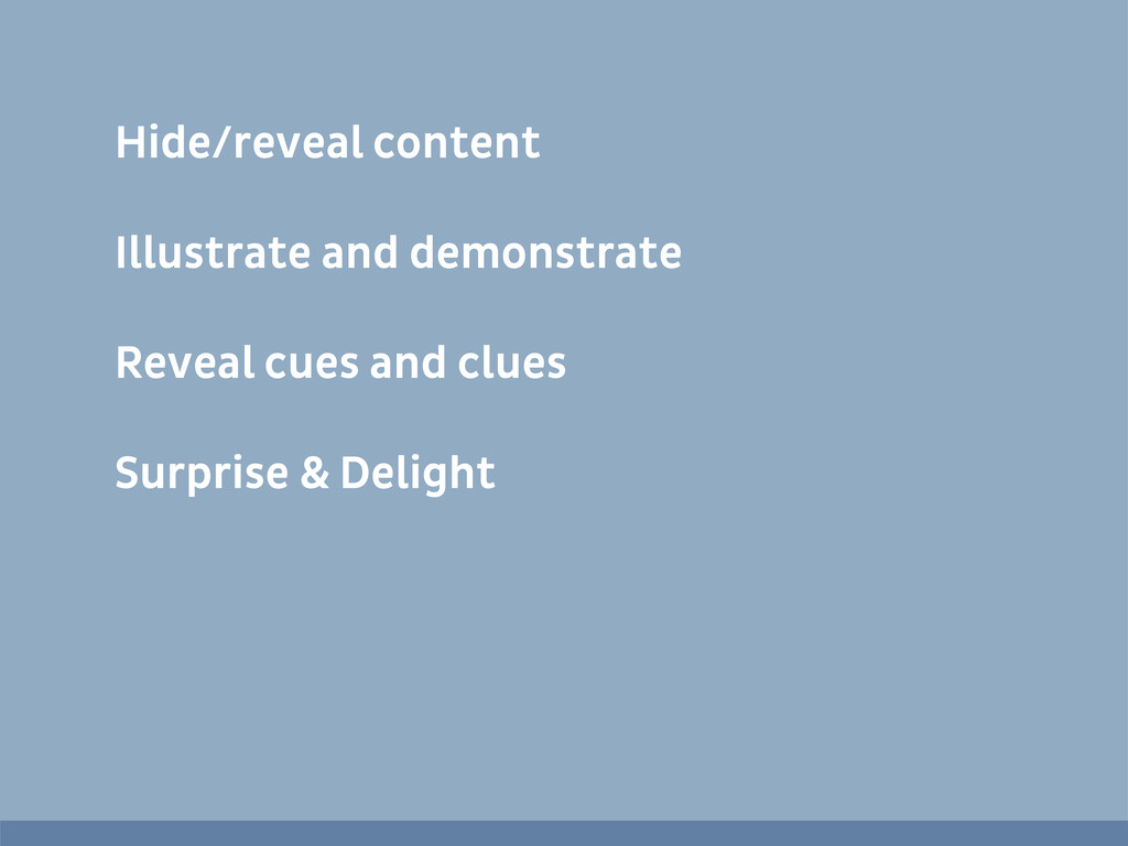 Hide/reveal content Illustrate and demonstrate ...