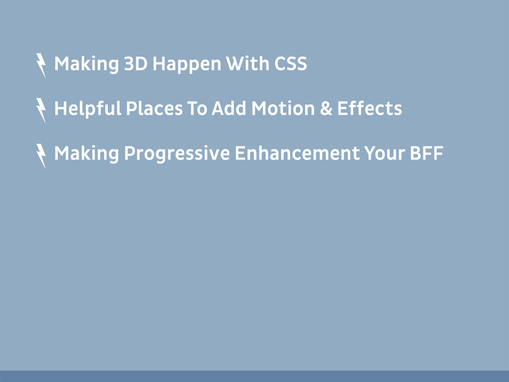 Making 3D Happen With CSS Helpful Places To Add...