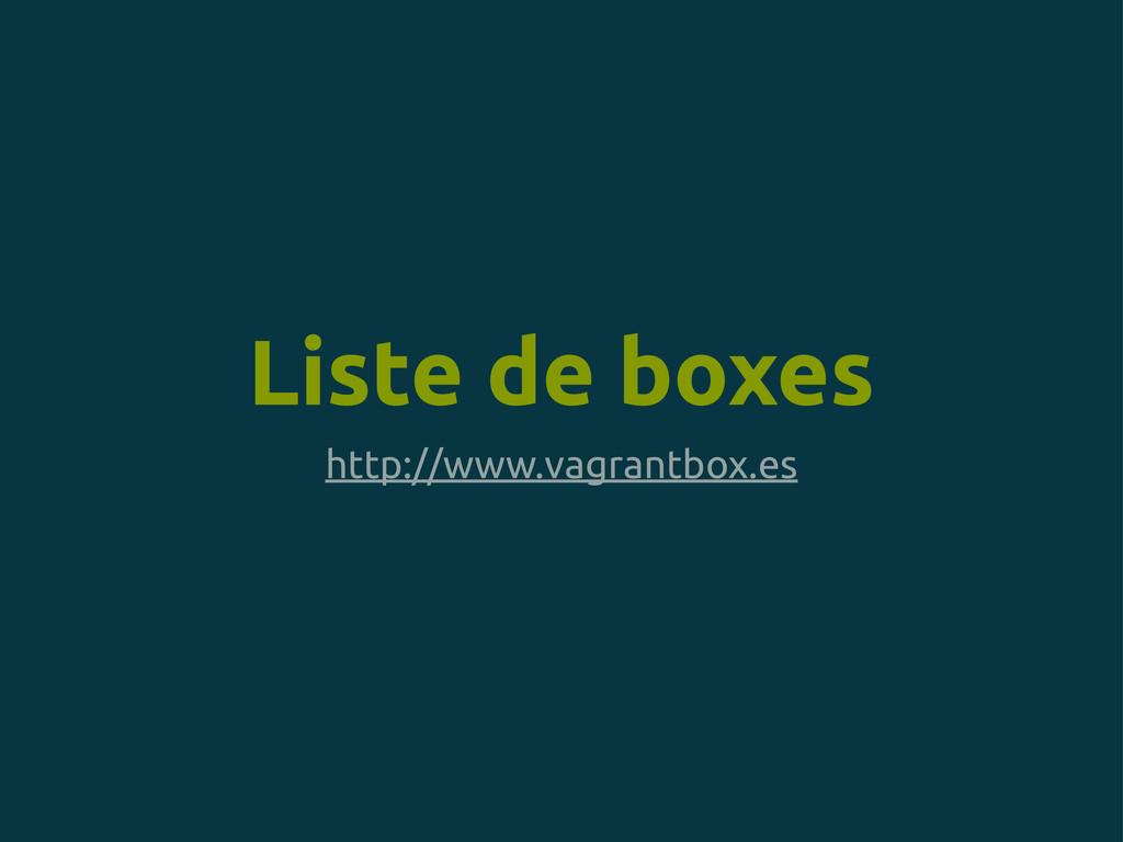 Liste de boxes http://www.vagrantbox.es