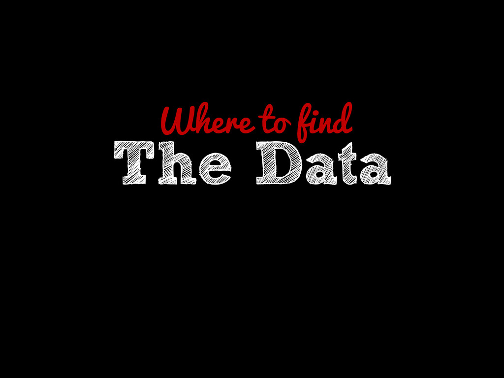 Where to find The Data