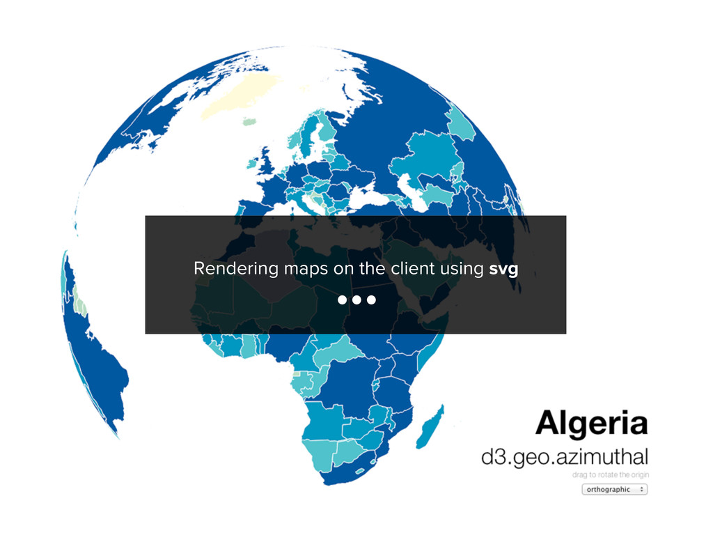 Rendering maps on the client using svg