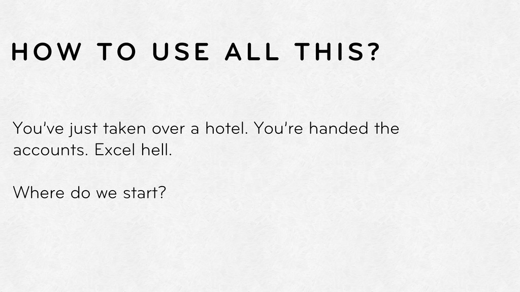 You've just taken over a hotel. You're handed t...