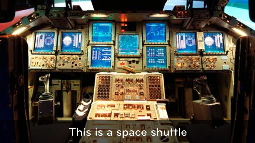 This is a space shuttle