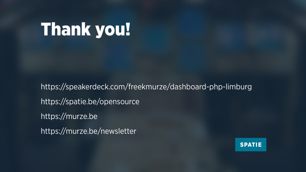 Thank you! https://speakerdeck.com/freekmurze/d...