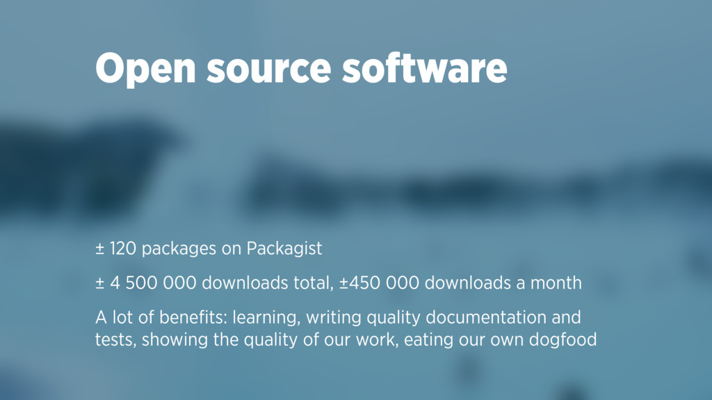 Open source software ± 120 packages on Packagis...