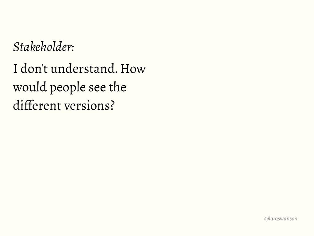 @laraswanson Stakeholder: I don't understand. H...