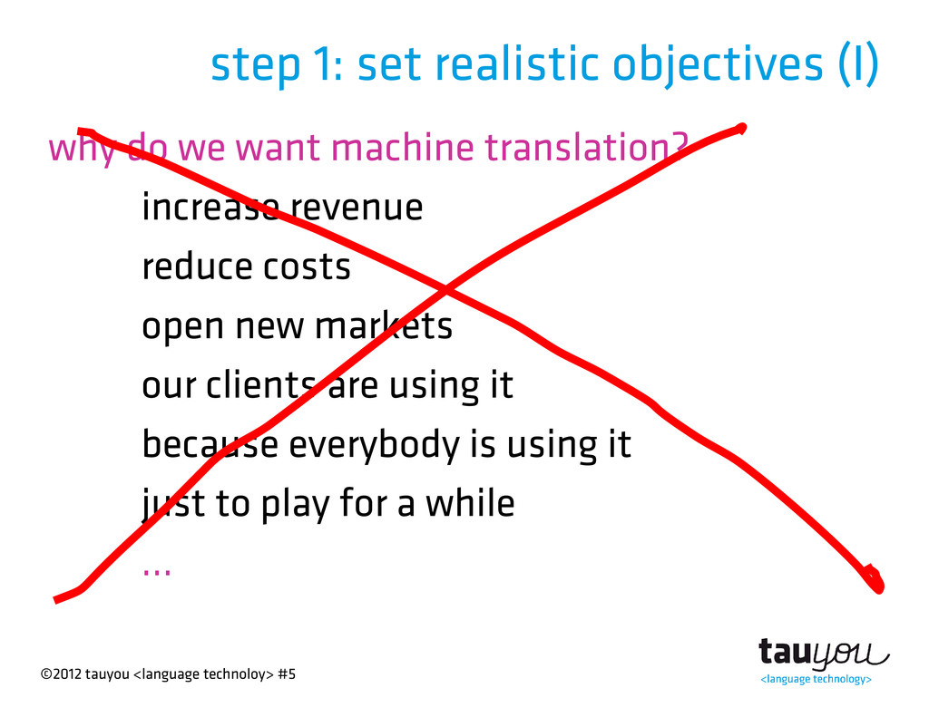 ©2012 tauyou <language technoloy> #5 why do we ...