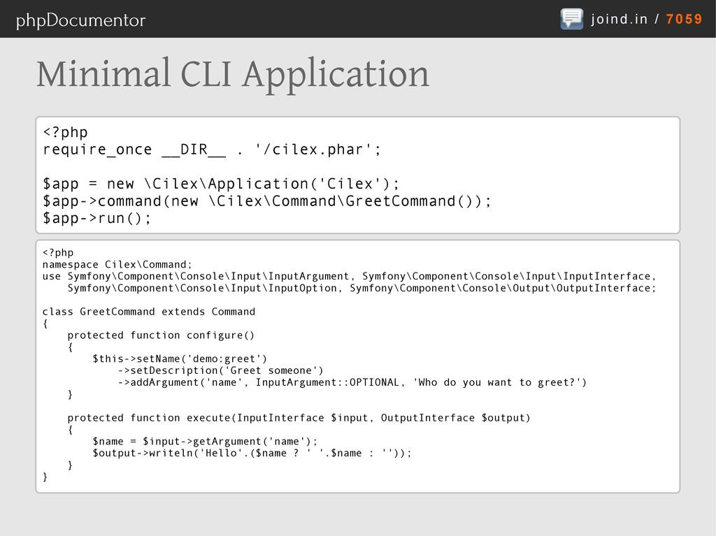joind.in / 7059 phpDocumentor Minimal CLI Appli...