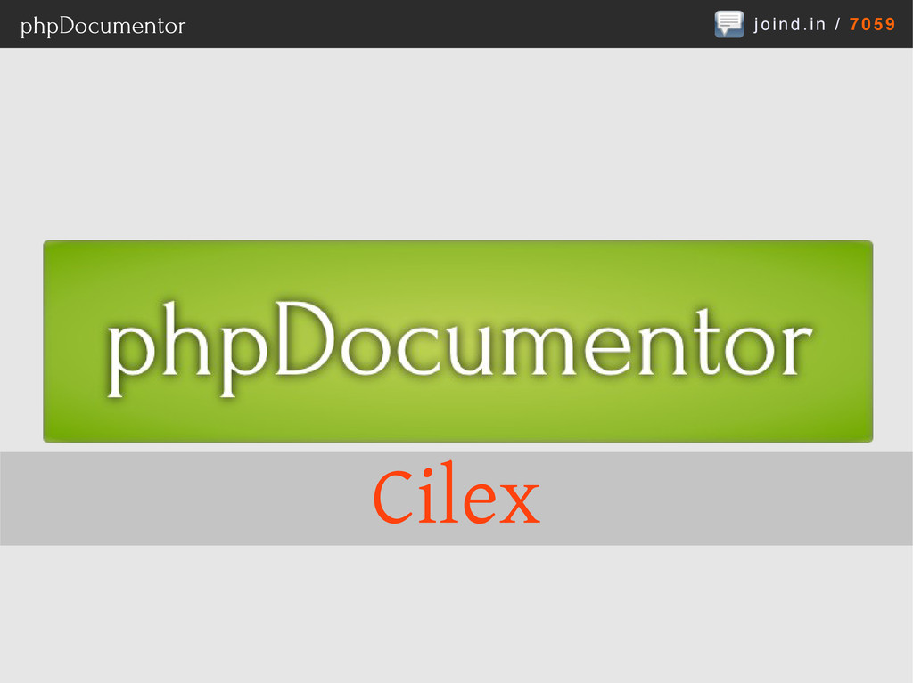 joind.in / 7059 phpDocumentor Cilex