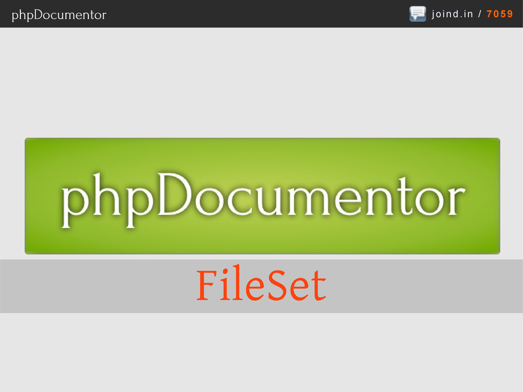 joind.in / 7059 phpDocumentor FileSet