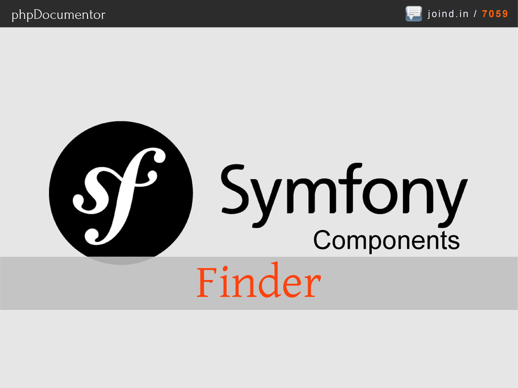 joind.in / 7059 phpDocumentor Components Finder