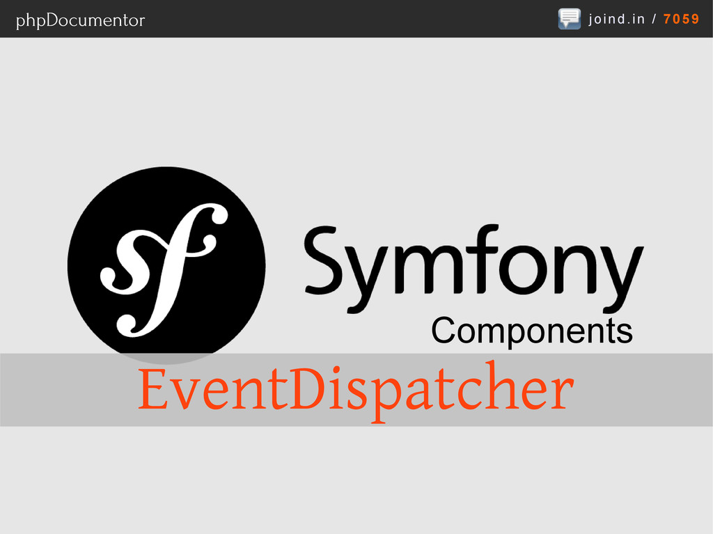 joind.in / 7059 phpDocumentor Components EventD...