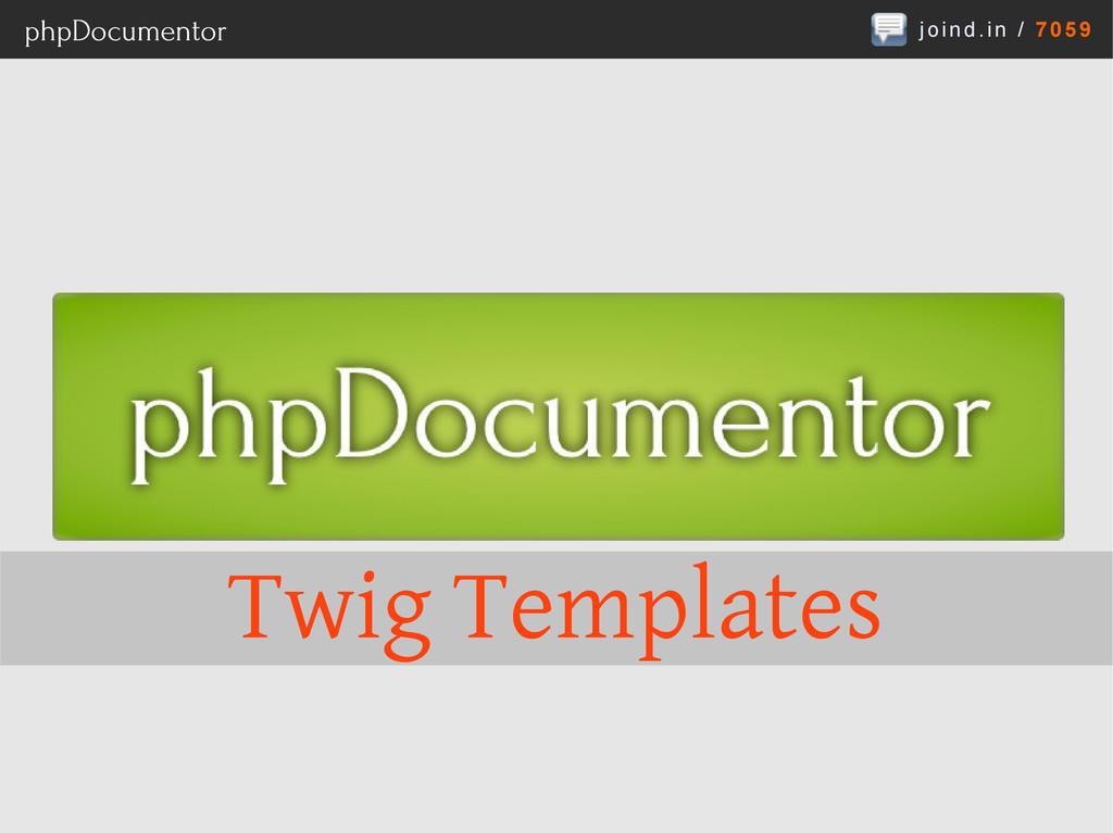 joind.in / 7059 phpDocumentor Twig Templates